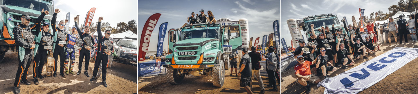 IVECO dominates the Africa Eco Race 2018 in the truck category and finishes with the victory of Gerard De Rooy from Team PETRONAS De Rooy IVECO