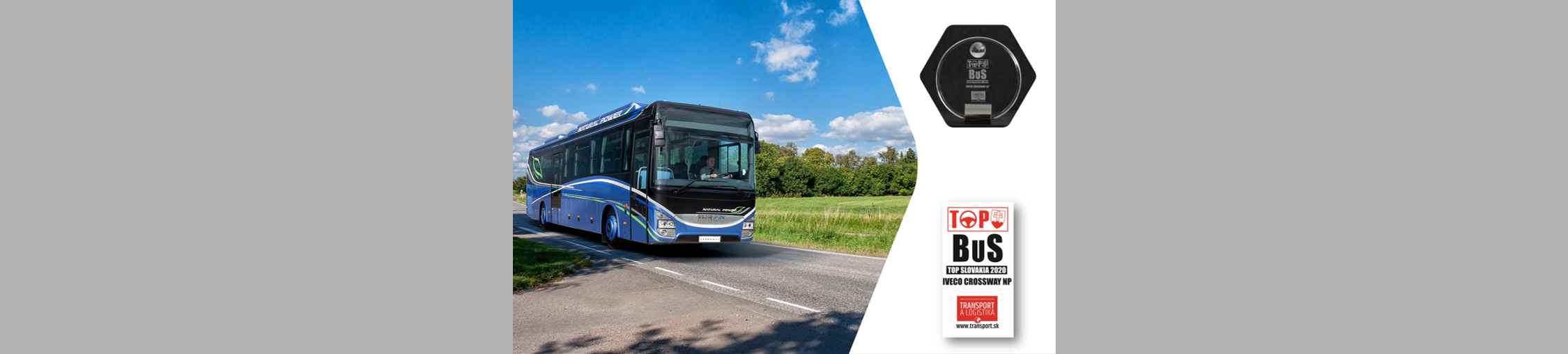 IVECO BUS remporte les prix de « TOP SLOVAKIA 2020 » et « TOP CZECH TRANSPORT 2020 » avec son Crossway Natural Power