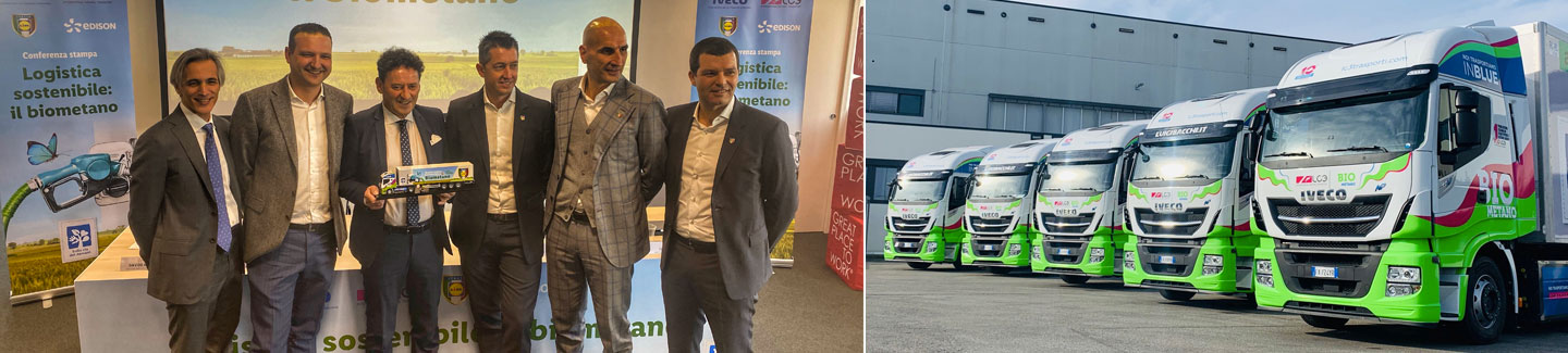 Lidl, IVECO, LC3 and Edison introduce the first biomethane-fuelled vehicles in the retailer's Italian fleet