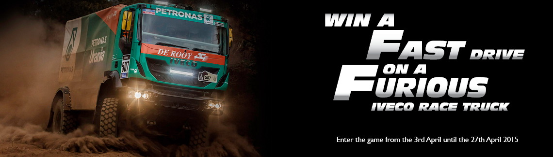 Win a Fast Drive on a Furious Iveco Race Truck