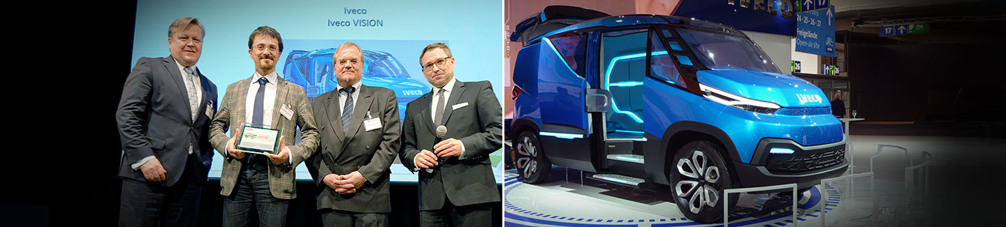 "Iveco focus on sustainability recognised with award for its ""Vision"" concept"