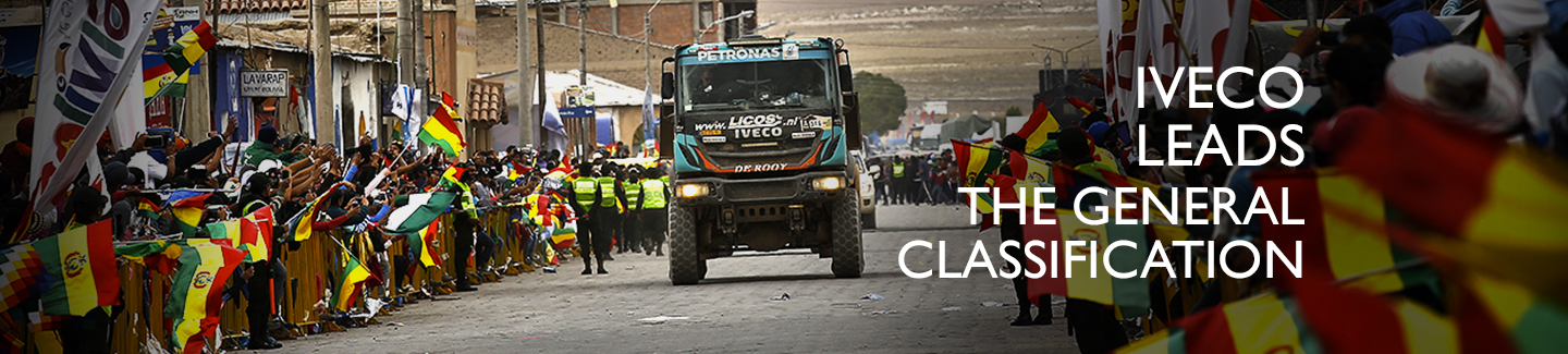 Dakar 2016: Villagra, with the Iveco Powerstar, lead the general classification