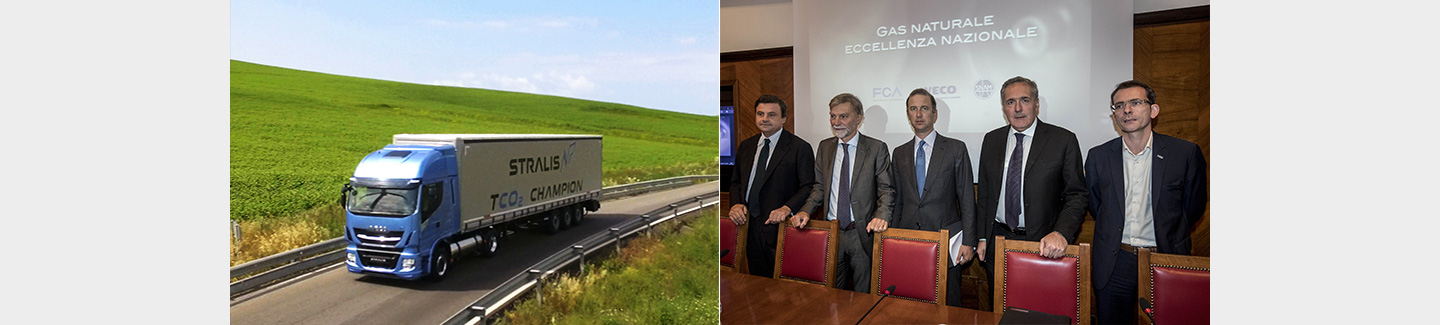 FCA, IVECO and Snam sign a Memorandum of Understanding for the development of natural gas as an environmentally friendly vehicle fuel