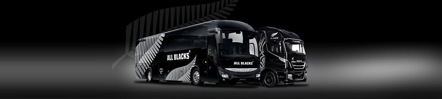 Champions transport champions: Iveco teams up with the All Blacks as European Supporter for their Fall European Tour