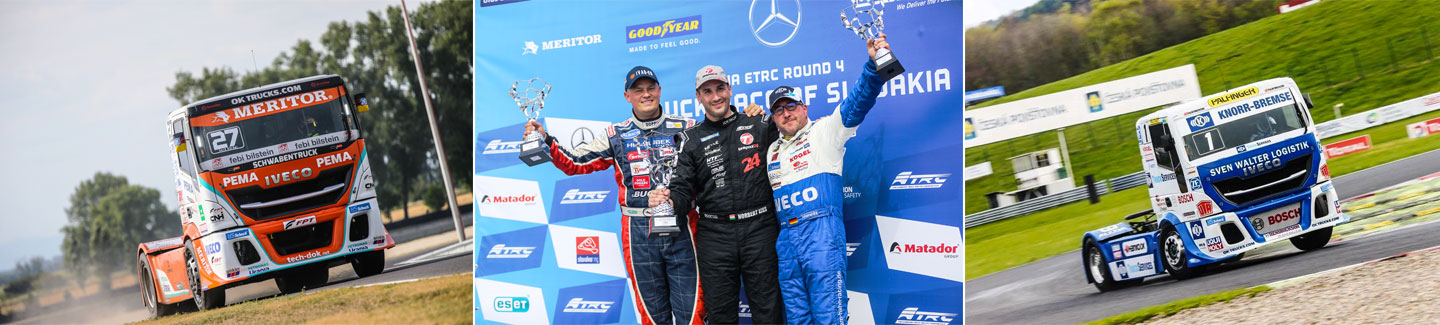 The Bullen of IVECO Magirus three times on the podium of the Slovakia Ring Grand Prix