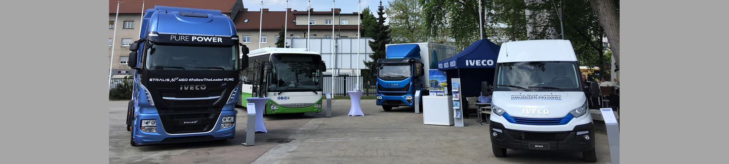 IVECO showcases its complete natural gas powered range at TEN-T Days 2018 the sustainable mobility conference promoted by the European Commission