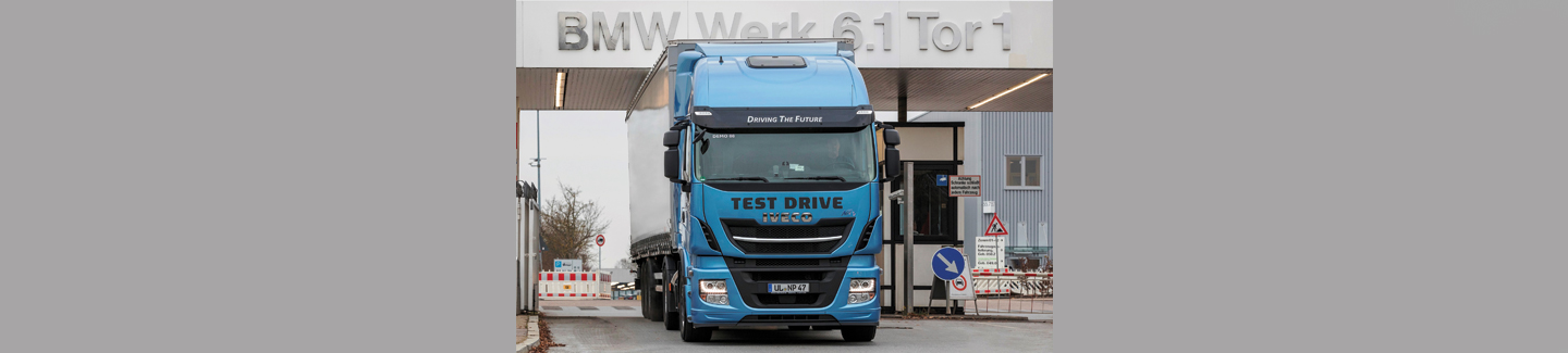 "BMW Group test met Stralis NP LNG-technologie voor logistiek binnen project ""Innovation and Industry 4.0"""