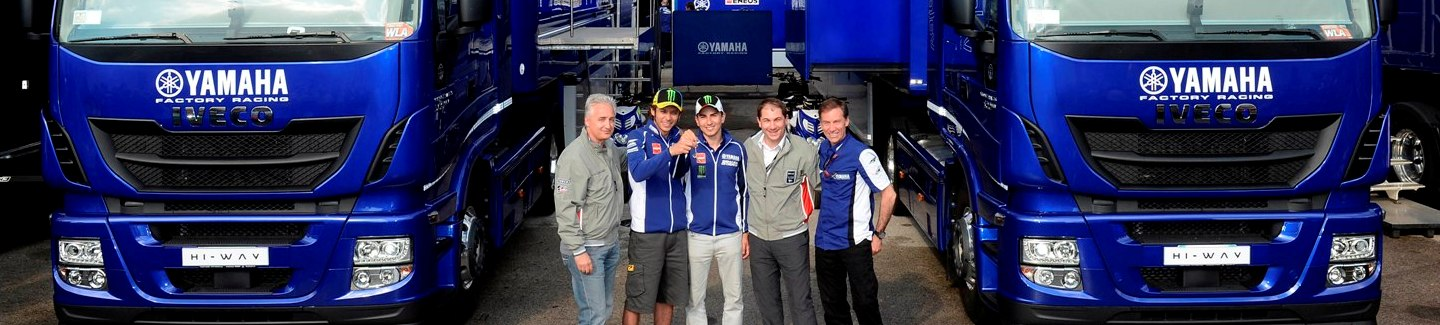 On the occasion of the 2013 MotoGP, the premier motorcycle racing world championship, Iveco has supplied a total of 20 new Stralis Hi-Way trucks to both Dorna Sports, the championship's Spanish organiser, and to the competing Yamaha Factory Racing Team.