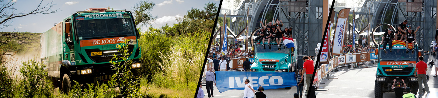Dakar 2015: two Iveco vehicles finish in the Top 10