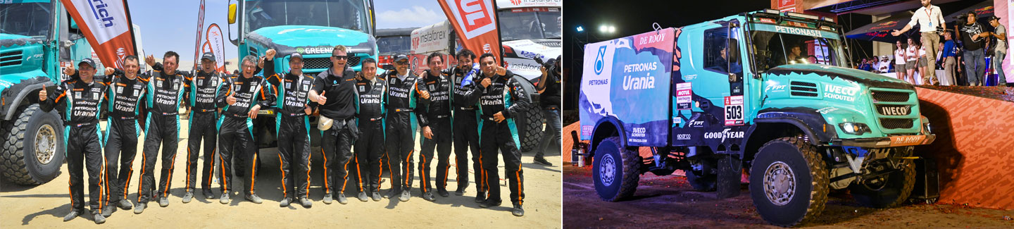 Team PETRONAS De Rooy IVECO closes the Dakar Rally 2019 with a podium placement
