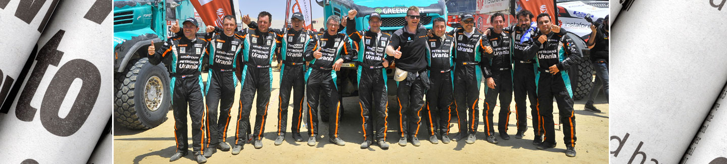 Team PETRONAS De Rooy IVECO closes the Dakar Rally 2019 with a podium placement and takes its four trucks across the finish line in the Top 10