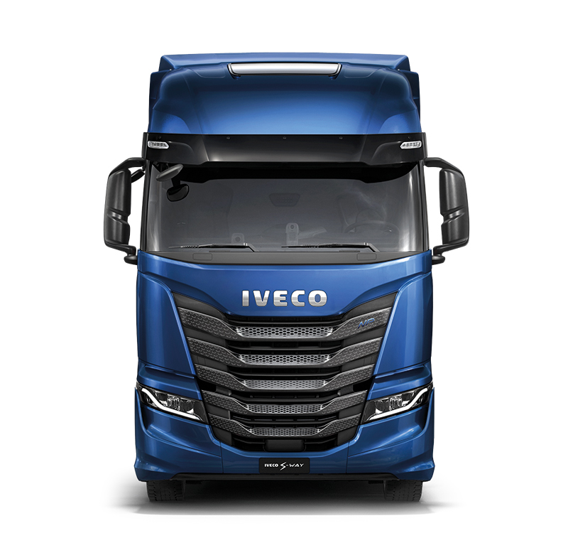 "<span style=""color: #69aad0;"">IVECO S-WAY. <br> DRIVE THE NEW WAY.</span>"