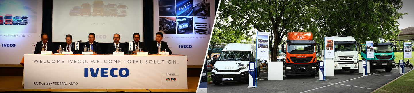 Iveco Launches its Full Range of Solutions for the Commercial Vehicles Sector in Malaysia with Distributor FA Trucks