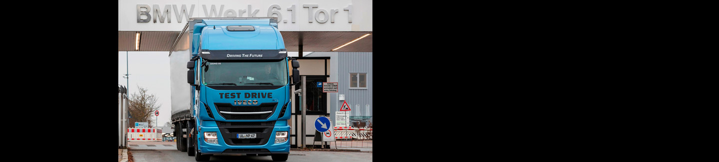 BMW Group chooses Stralis NP to test LNG technology for its logistics