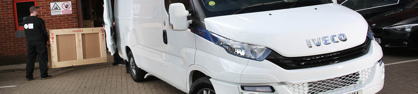 Art logistics provider says IVECOs Daily Blue Power is a masterpiece
