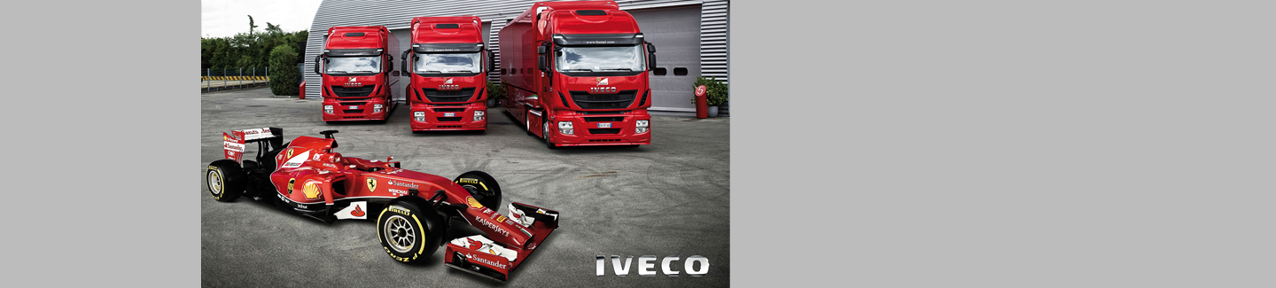 Three Iveco Stralis Hi-Ways for the most popular Formula 1 team