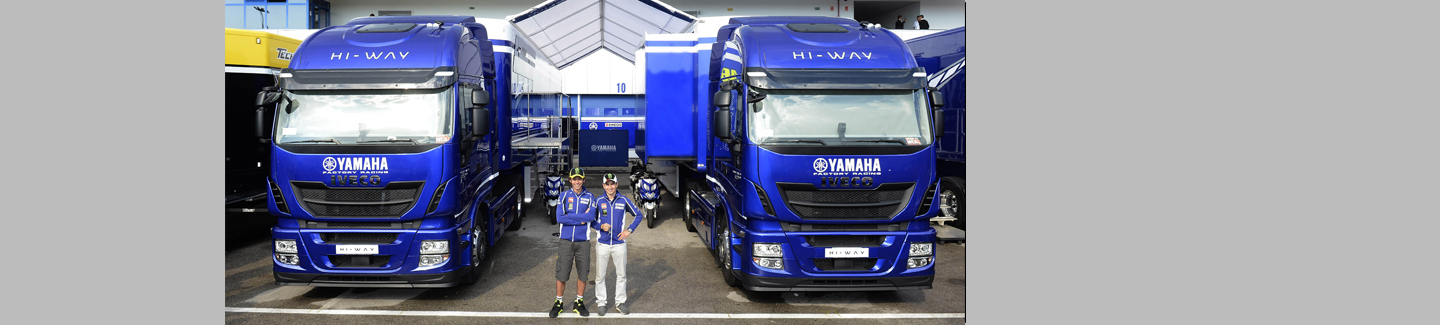 Iveco helps Yamaha Factory Racing Team and Dorna Sports